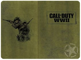 """Call of Duty WWII Soft Cover Ruled Journal - 8.25"""" x 5.25"""" Army Green 192 Pages"""