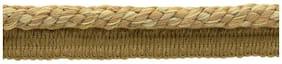 "Camel Beige, Straw, Harvest Gold 3/8"" Decoractive Lip Cord [24 Yards]"