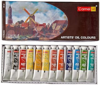 Camlin Kokuyo Artist's Oil Color Box - 20ml tubes;12 Shades