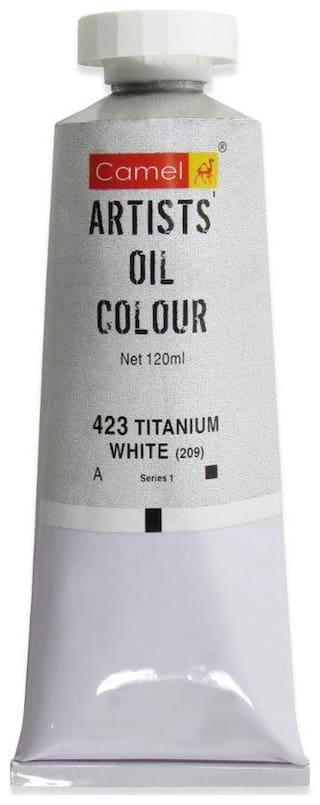 Camlin Kokuyo Artist Oil Colour 120 ml Series 1 Titanium White