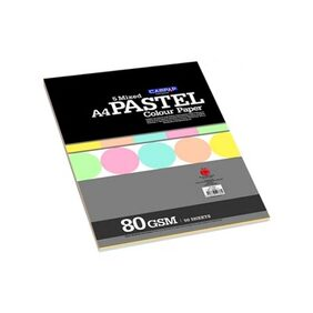 Campap Pastel Colour Paper-5 Mixed Colors (Ca-4778) (Pack Of 3)