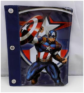 Captain America Pencil Case Pouch 3 Marvel Avengers Hole Punch Brand New ST169