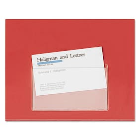 Cardinal HOLD IT Poly Business Card Pocket Top Load 3 3/4 x 2 3/8 Clear 10/Pack