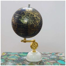 Casa Decor Discovering Possessions Globe World Globe for Office Desk, Home D cor Antique World Globe with Enduring Arc - Gift Item
