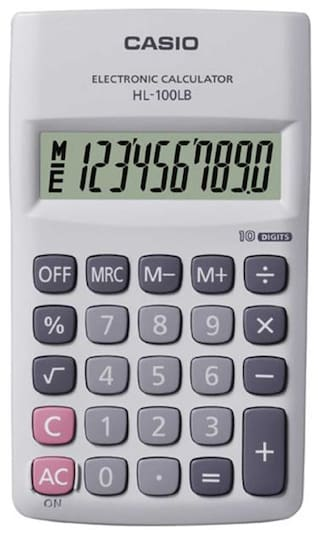 Casio HL100LB Portable Calculator (10 Digits)