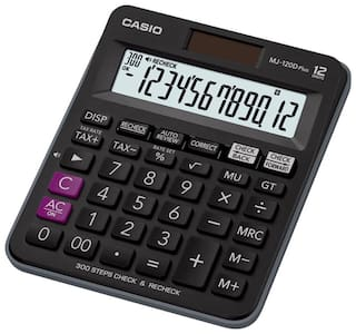 Casio MJ-120DPLUS-BK Desktop - C & C Calculator (12 Digits)