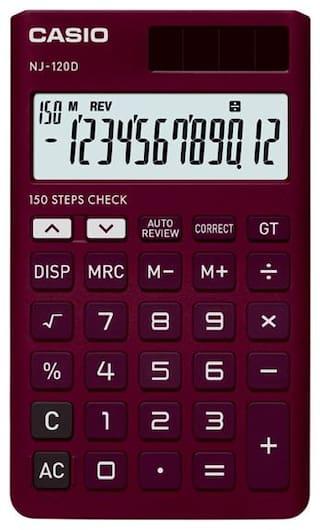 Casio NJ-120D-RD Portable Calculator (12 Digit)