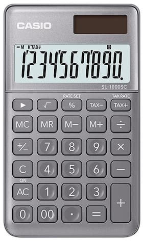 Casio SL-1000SC-GY Portable Calculator (10 Digits)