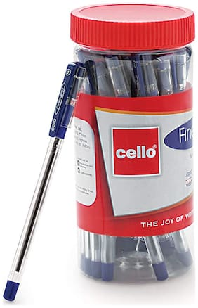 Cello Fine-grip Ball Pen Set - Pack of 25 (Blue)