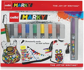 Cello Marky Permanent Marker;Pack of 8 (Multicolor)