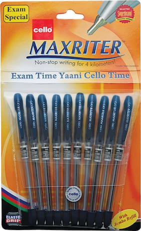 Cello Maxriter Ball Pen Set - Pack of 10 (Blue)