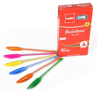Cello Rainbow Pen (Pack Of 20)