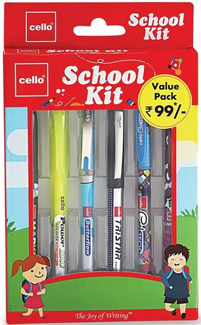 Cello School Kit Pen Set - Pack of 2 (Multi color)