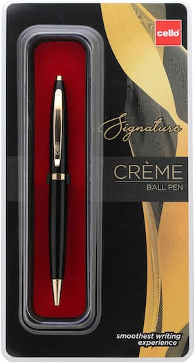 Cello Signature Cre me Ebony Ball Pen