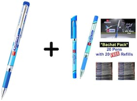 Cello Simply Butterflow - 5 Pcs Pen With 5 Pcs Free Refill & Cello classics Butterflow 5 pcs pen
