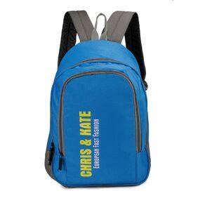 Chris & Kate Blue Polyester Spacious School Bag (28 Litres) (CKB_124RT)