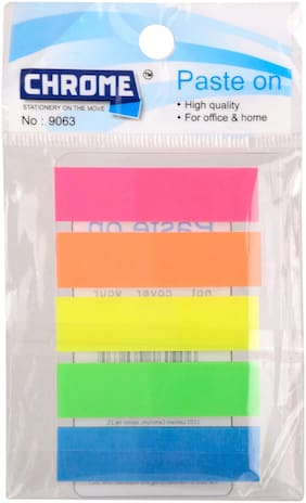Chrome 9063 - Neon Flags 25 Sheets Regular;5 Colors (Pack of 8)