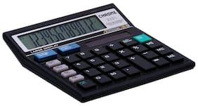 Chrome 9231 Box-Check & Correct Basic 12 Digits Calculator (Black)