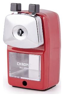 Chrome 9506 - Red Metal Body Sharpener (Pack of 1)