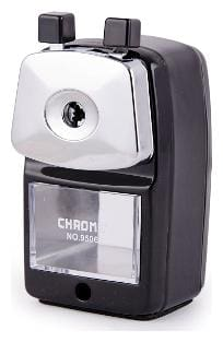 Chrome 9506 - Black Metal Body Sharpener (Pack of 1)