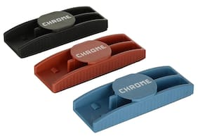 Chrome 9811 - Magnetic Whiteboard Duster Black,Red,Blue (Pack of 3)
