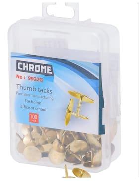Chrome 9922G - Gold Thumb Tacks