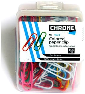 Chrome 9924 - Colored Paper U Clips (Pack Of 10)