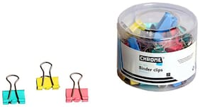 Chrome 9955 - Colored Binder Clips 19mm