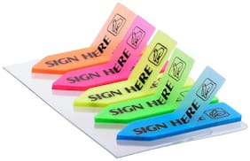Chrome Multicolor Sticky Note - Pack of 6