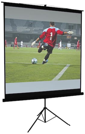 Cineview Tripod Type Projector Screen in Imported High Gain Fabric, 6 Ft. x 4 Ft.