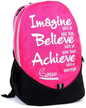CLASSIO 35 School bag - Pink & Black