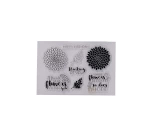 Clear Rubber Stamp, Used in Textile & Block Printing, Card & Scrap Booking Making (Thinking of You)