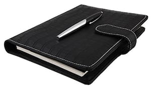 Coi Black Designer Undated Planner / Diary With Calculator And Pen