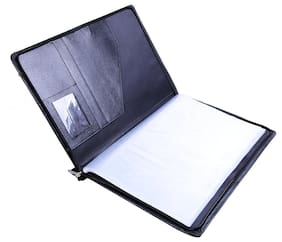 Coi Black Leatherette Material Professional Files And Folders;Certificate;Documents Holder With 20 Leafs....