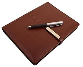 Coi Brown Designer Business Undated Planner / Diary With Pen