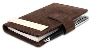 Coi Brown Notes Undated Pocket Diary/Organizer Planner With Calculator
