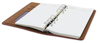 Coi Caramel Brown Corporate Pocket Undated Planner Diary With Pen