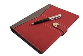 Coi Grey And Red Business Undated Planner / Diary With Pen