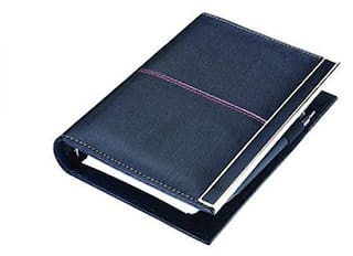Coi Leatherite Black Executive Organiser / Planner With Pen With Free Pen