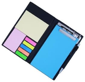 COI Memo Blue Neon Note Pad/Memo Note Book With Sticky Notes & Clip Holder In Diary Style With Pen