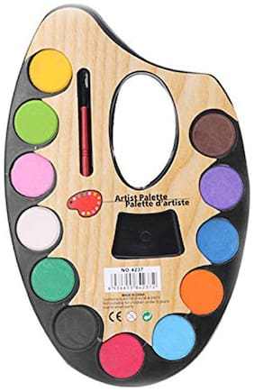 Colors Water Based Face & Body Paint +1 Brushes Party Makeup
