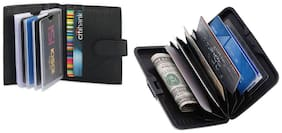 Combo Aluma Card Holder & Leather Card Holder