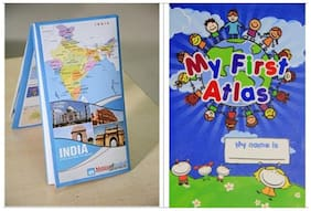Combo Offer India Folded Map (70 x 94 cm) & My First Atlas For Kids