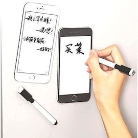 CONNECTWIDE iPhone Shape Fridge Magnetic Memo Pad Household Mobile Phone Type Fridge Magnet Creative Refrigerator Message Board