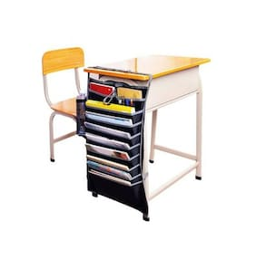 CONNECTWIDE  tifunction Adjustable Table Desk Side Hanging Storage Organizer For Books Newspaper Magazine Stationery