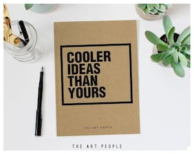 Cooler Brown Plain Notebook Travel Handmade Paper Diary  (120 Pages, 90gsm)
