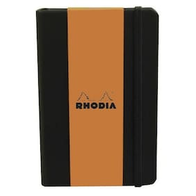 "Copy of Rhodia (R118609) 5 1/2"" x 8 1/4"" Webnotebook (Lined Paper) w/Black Cover"