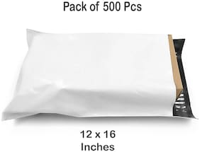 Courier Bags with POD - Secure Tamper Proof Mailing Bags ( 12x16 Inches ) Pack of 500 Pieces By Dispatchwala
