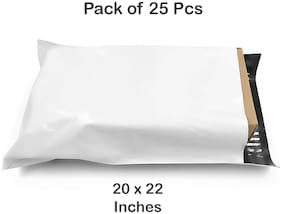 Courier Bags with POD - Secure Tamper Proof Mailing Bags ( 20x22 Inches ) Pack of 25 Pieces By Dispatchwala