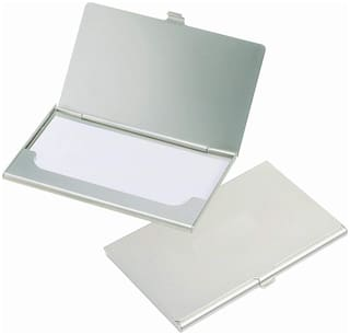 CP Bigbasket ATM/Visiting/Credit Card/Business Card Case Holder for Men and Women   Silver